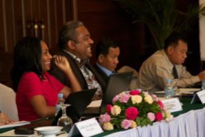 Participants at arms control workshop in Cambodia